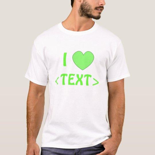 Camisa 0009 del corazón del personalizable I