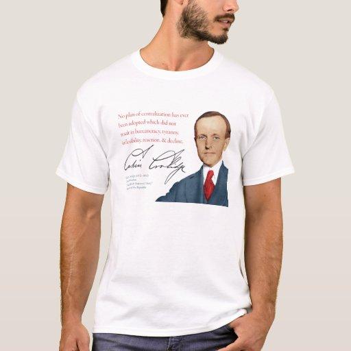 """Camisa #12 """"centralización """" de Calvin Coolidge"""