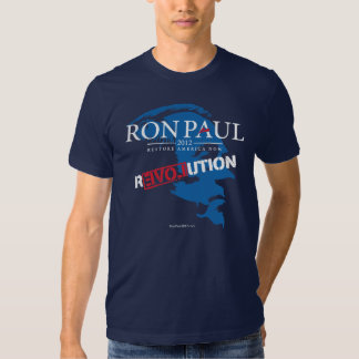 Camisa 2012 de la revolución de Ron Paul