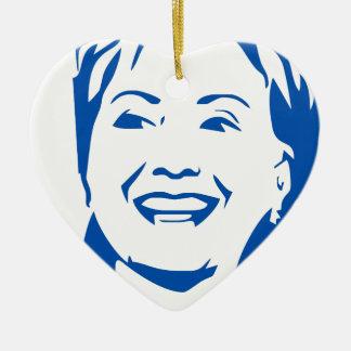 Camisa 2016 de Hillary Clinton el | HIllary para Adorno Navideño De Cerámica En Forma De Corazón