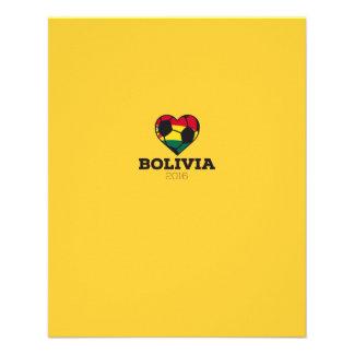 """Camisa 2016 del fútbol de Bolivia Folleto 4.5"""" X 5.6"""""""