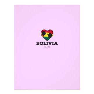"""Camisa 2016 del fútbol de Bolivia Folleto 8.5"""" X 11"""""""