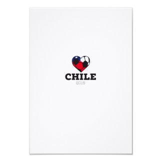"""Camisa 2016 del fútbol de Chile Invitación 3.5"""" X 5"""""""