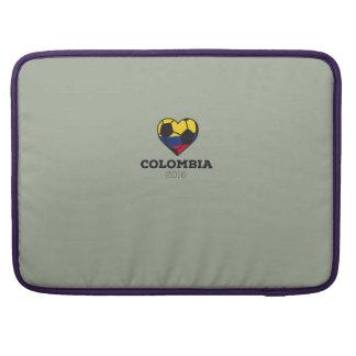 Camisa 2016 del fútbol de Colombia Funda Macbook Pro
