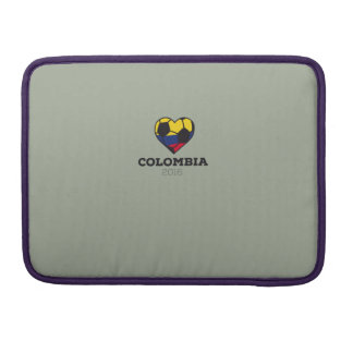 Camisa 2016 del fútbol de Colombia Funda Para Macbook Pro