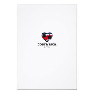 """Camisa 2016 del fútbol de Costa Rica Invitación 3.5"""" X 5"""""""