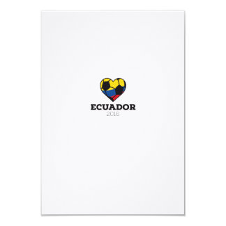 """Camisa 2016 del fútbol de Ecuador Invitación 3.5"""" X 5"""""""