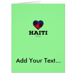 Camisa 2016 del fútbol de Haití Tarjeta De Felicitación Grande