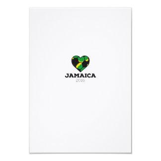 """Camisa 2016 del fútbol de Jamaica Invitación 3.5"""" X 5"""""""