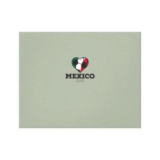 Camisa 2016 del fútbol de México Impresiones En Lona Estiradas