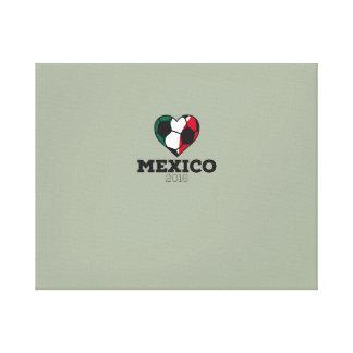 Camisa 2016 del fútbol de México Lienzo Envuelto Para Galerias