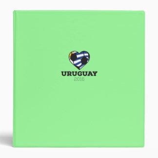 """Camisa 2016 del fútbol de Uruguay Carpeta 1 1/2"""""""