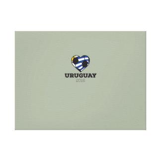 Camisa 2016 del fútbol de Uruguay Impresiones En Lienzo Estiradas