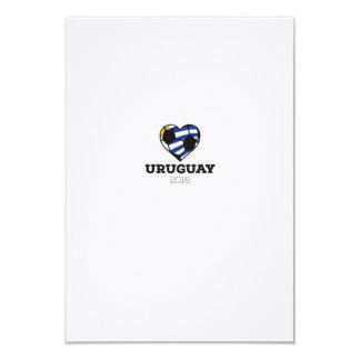 """Camisa 2016 del fútbol de Uruguay Invitación 3.5"""" X 5"""""""