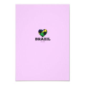 """Camisa 2016 del fútbol del Brasil Invitación 3.5"""" X 5"""""""