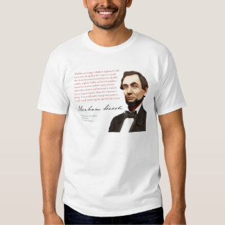 "Camisa #27 ""enlaces de Abraham Lincoln de guerra """