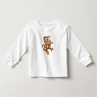 Camisa A.C. feliz del mono del baile