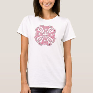 Camisa abstracta rosada del arco