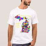 Camisa adaptable colorida de Michigan -