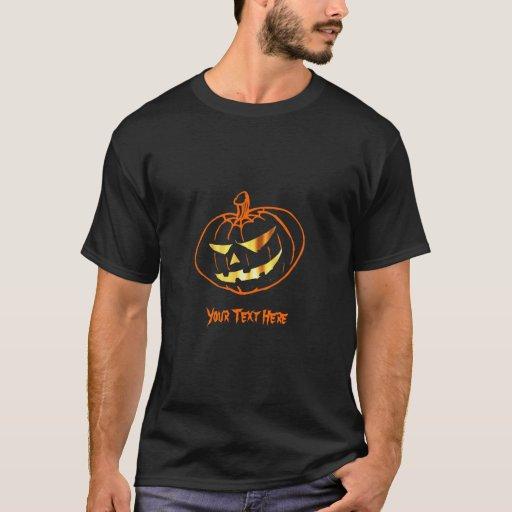 Camisa adaptable de la calabaza de Halloween