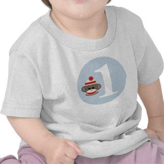 Camisa adaptable del cumpleaños del mono del calce