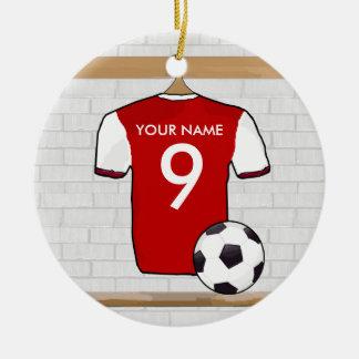 Camisa adaptable del fútbol (colgante del ornament ornamento para reyes magos
