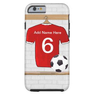 Camisa adaptable del fútbol funda de iPhone 6 tough