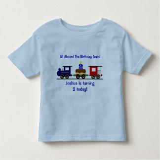 Camisa adaptable del tren del cumpleaños