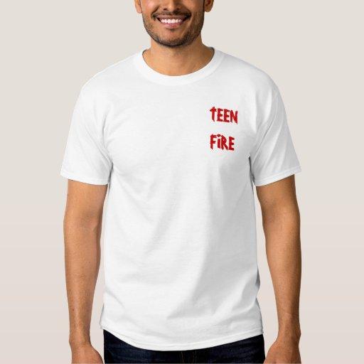Camisa adolescente del logotipo del fuego