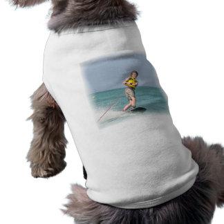 Camisa adolescente del perro de Wakeboarding Ropa Para Mascota