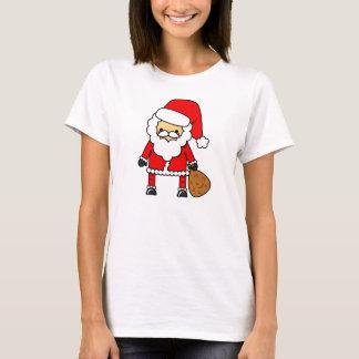 Camisa adorable de Santa del dibujo animado de