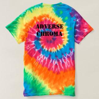 Camisa adversa del teñido anudado de la croma