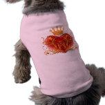 Camisa afiligranada del perro del corazón de la co camisas de mascota