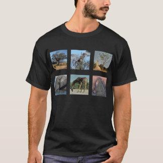 Camisa africana del animal y del paisaje