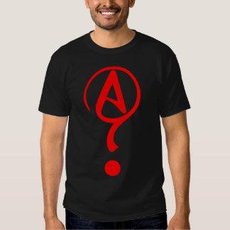 Camisa agnóstica del símbolo de Athiest del signo