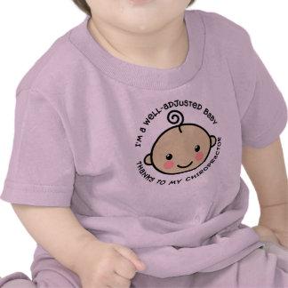 Camisa ajustada pozo de la quiropráctica del bebé