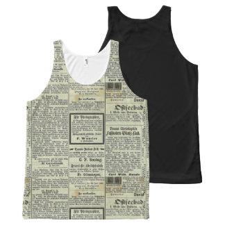 Camisa alemana del periódico del vintage