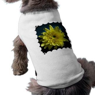 Camisa amarilla del mascota del crisantemo camisetas de perrito