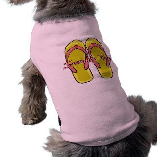 Camisa amarilla del perro de los balanceos playera sin mangas para perro