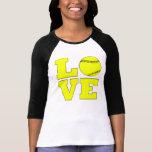 Camisa amarilla del personalizado del amor del