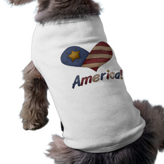 Camisa americana antigua del perro playera sin mangas para perro