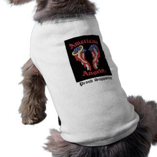 Camisa americana del perro de los ángeles camisas de perritos
