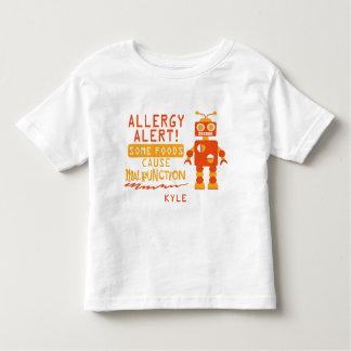Camisa anaranjada de la alarma de la alergia