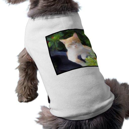 Camisa anaranjada del perro del gato de Tabby Camisa De Mascota