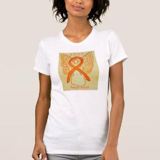 Camisa anaranjada del personalizado del ángel de
