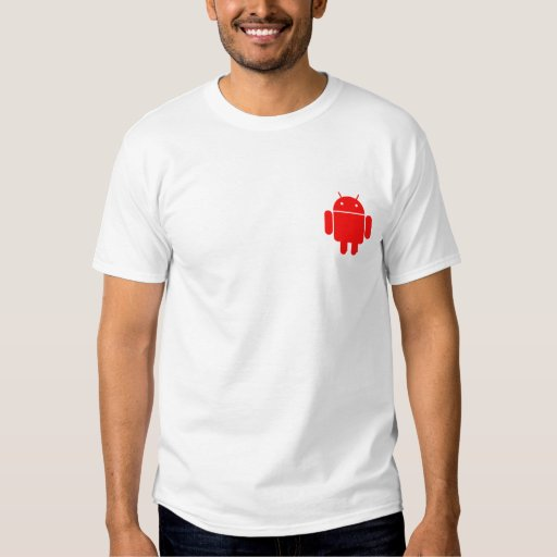 Camisa androide roja simple