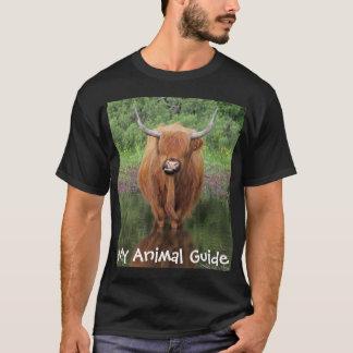 Camisa animal de la guía de la vaca de la montaña