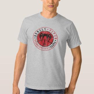Camisa apenada pelotón mortal del asesinato de la