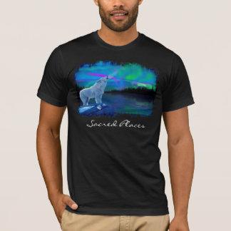 Camisa ártica del arte de la fauna del lobo y de