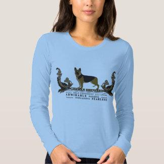 Camisa artística del ejemplo del pastor alemán de